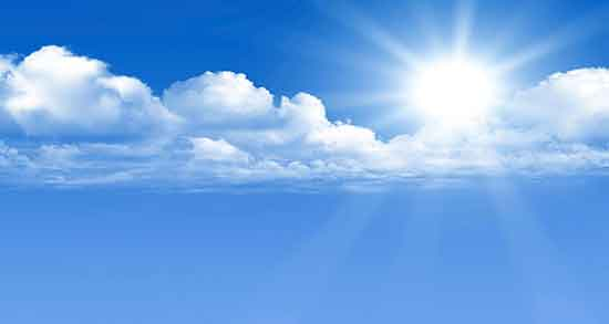 تعبیر خواب آسمان ، ابری و آبی رنگ و تاریک و نوشته و نورافشانی در آسمان