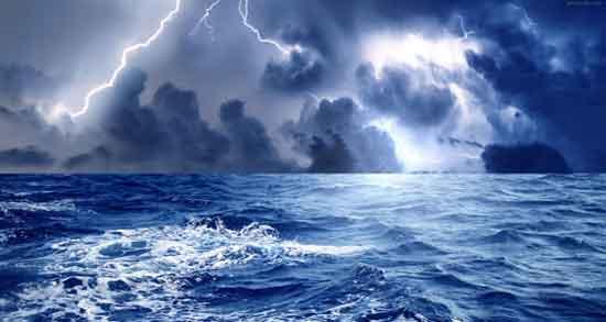 تعبیر خواب دریای طوفانی و گل آلود ، و موج خیلی بزرگ و افتادن در دریا
