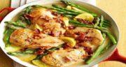 مارچوبه و مرغ ؛ استفاده از گیاه مارچوبه برای طعم دار کردن مرغ