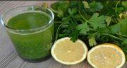 خواص جعفری و لیمو ؛ معجونی عالی برای سوزاندن چربی با ترکیب جعفری و لیمو