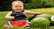 فواید هندوانه برای کودکان ؛ خوردن هندوانه برای افزایش رشد کودکان