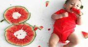 هندوانه برای نوزاد ؛ فواید دادن هندوانه در کنار غذای کمکی به نوزاد ۶ ماهه