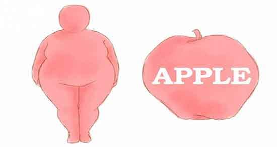چاقی سیبی شکل ؛ ورزش برای چاقی سیبی شکل و الگوی چاقی سیب و گلابی