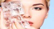 خواص یخ برای صورت ؛ بسته شدن منافذ پوست با ماساژ یخ